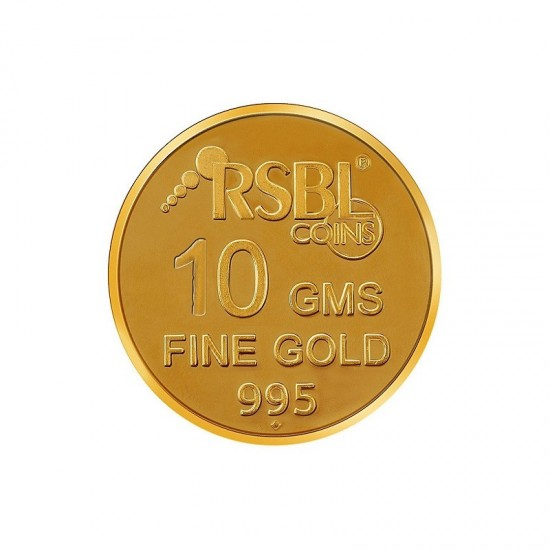 10 gram 24kt purity RSBL Gold Coin 995 fineness