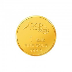 1 gram 24kt purity RSBL Gold Coin 999 fineness
