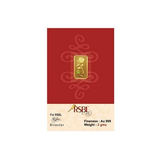 2 gram 24kt purity RSBL Gold Coin 999 fineness