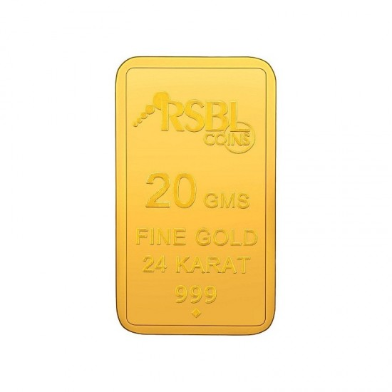 20 gram 24kt purity RSBL Gold Coin 999 fineness