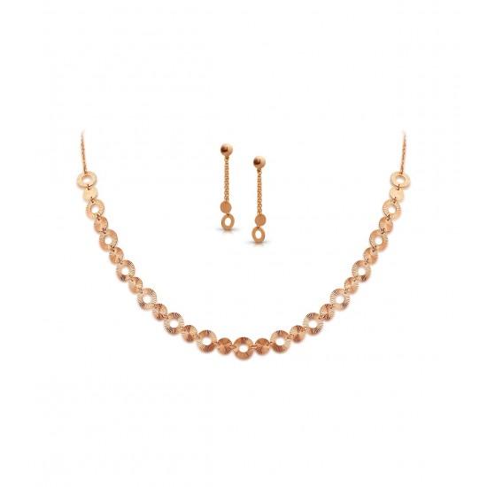 Rose Gold Necklaces Set Casting 9.23 gram