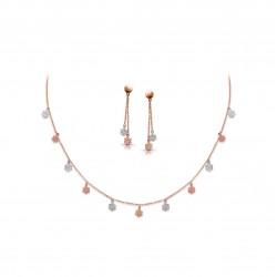 Rose Gold Necklaces Set Casting 4.70 gram