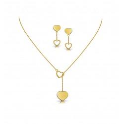 Rose Gold Necklaces Set Casting 8.76 gram