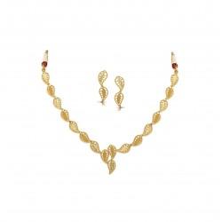 Gold Necklaces Set Casting H Set 15.47 gram