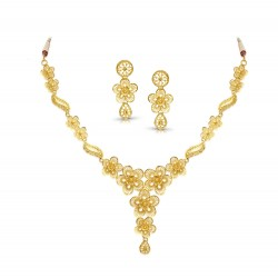 Gold Necklaces Set Casting 18.92 gram