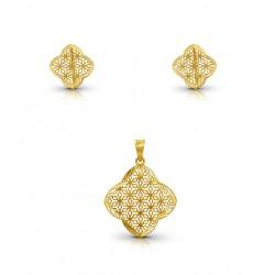 Gold Pendant Set Dubai DM 6.02 gram