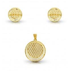 Gold Pendant Set Dubai DM 7.26 gram