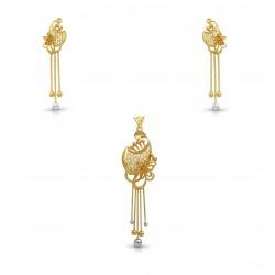Gold Pendant Set EJT Casting  12.70 gram