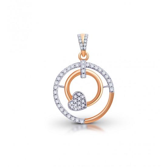 Rose Gold Pendant A. Diamond 3.55 gram