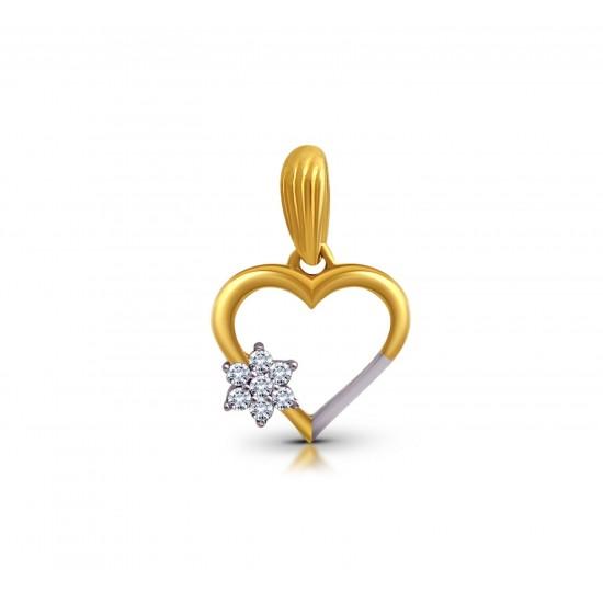 Gold Pendant A.Diamond Heart 1.06 gram