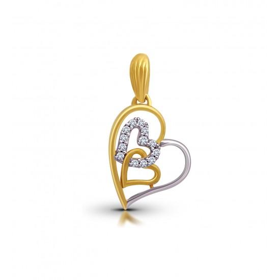 Gold Pendant A.Diamond Big Heart 1.42 gram