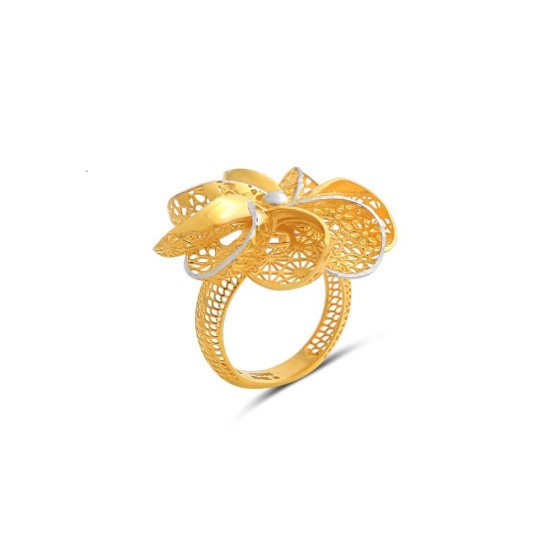 Stunning Gold Ring  Design in 18 Karat  By Amol Jewellers LLP - 3.81 gram