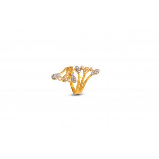 Gold Women Ring in 18 Karat 5.55 gram Design By Amol Jewellers LLP