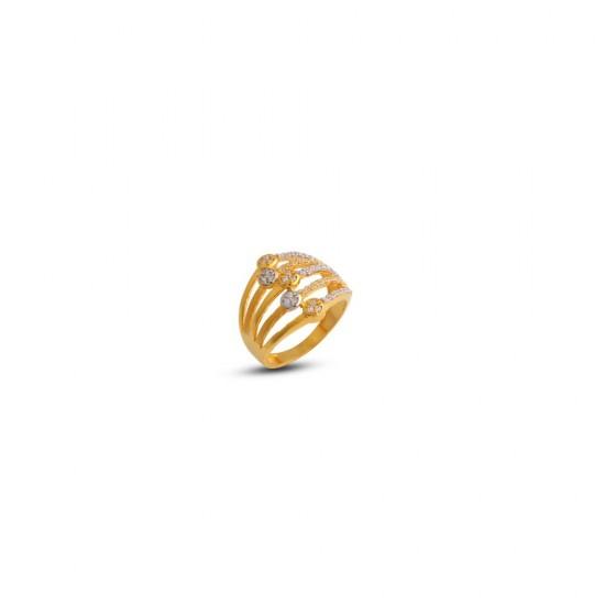 Gold Women Ring in 18 Karat 4.15 gram Design By Amol Jewellers LLP
