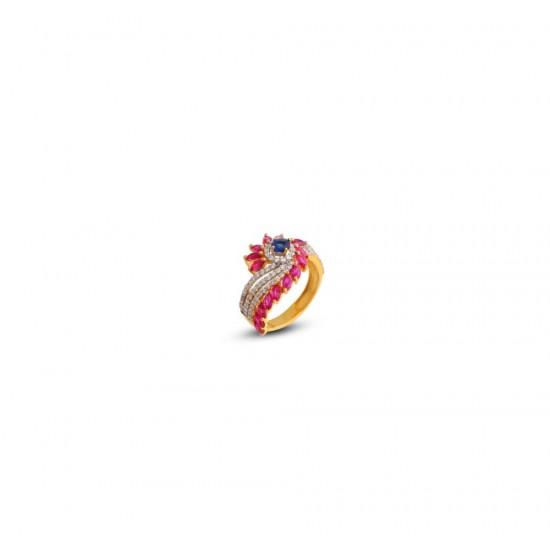 Gold Women Ring in 18 Karat 4.74 gram Design By Amol Jewellers LLP