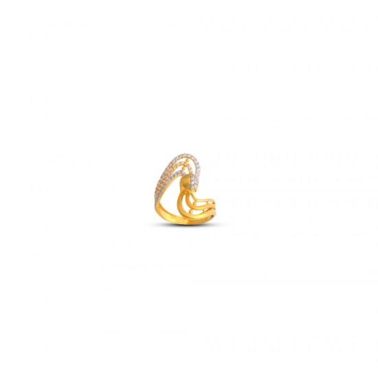 Gold Women Ring in 18 Karat 3.17 gram Design By Amol Jewellers LLP