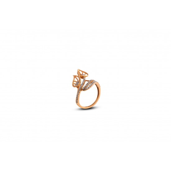 Gold Women Ring in 18 Karat 3.95 gram Design By Amol Jewellers LLP