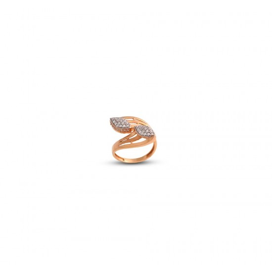 Gold Women Ring in 18 Karat 4.11 gram Design By Amol Jewellers LLP