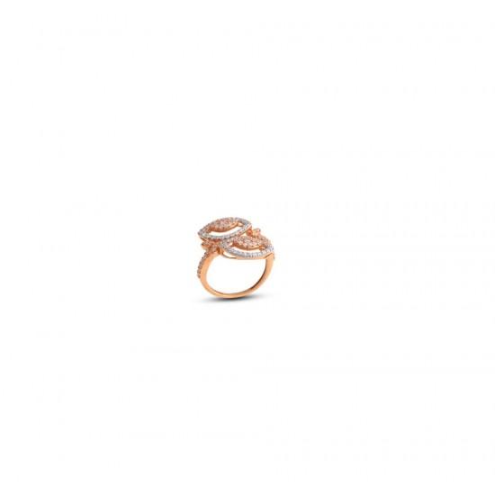 Gold Women Ring in 18 Karat 3.38 gram Design By Amol Jewellers LLP
