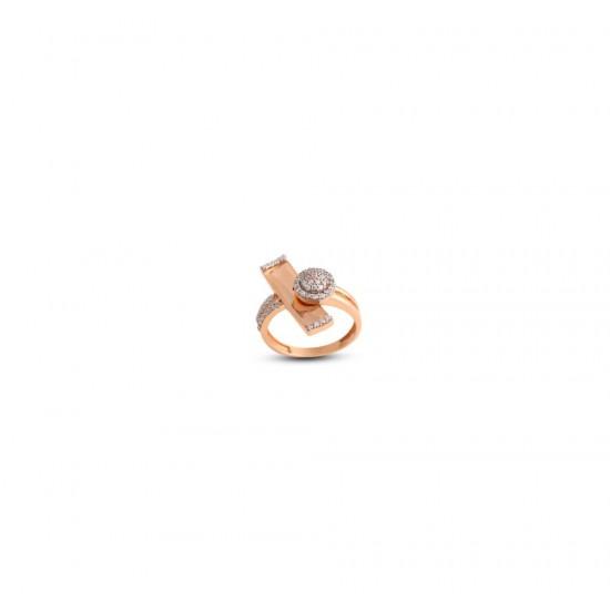 Gold Women Ring in 18 Karat 4.31 gram Design By Amol Jewellers LLP