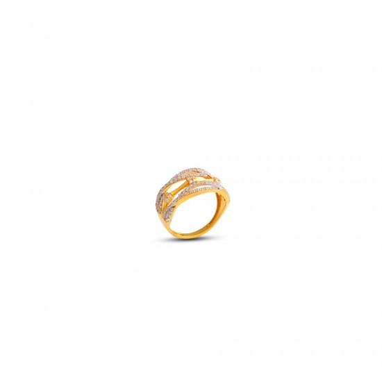 Gold Women Ring in 18 Karat 3.78 gram Design By Amol Jewellers LLP