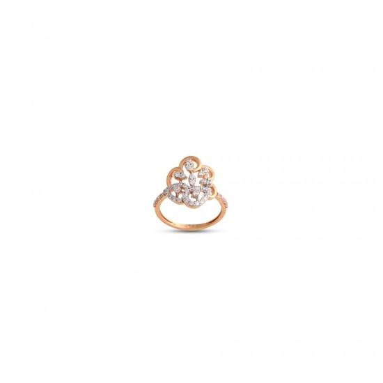 Gold Women Ring in 18 Karat 3.55 gram Design By Amol Jewellers LLP