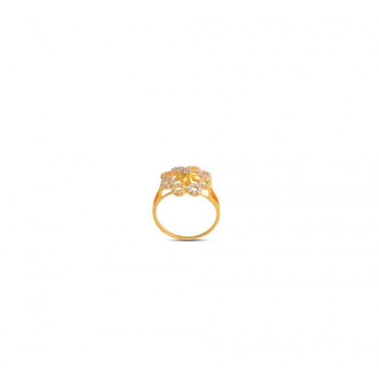 Gold Women Ring in 18 Karat 2.62 gram Design By Amol Jewellers LLP