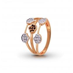 Rose Gold  Diamond  Ring  2.33 gram