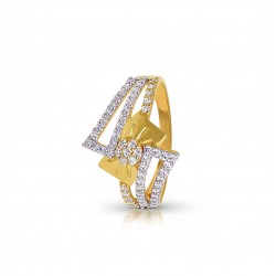 Gold Ring A.Diamond 2.45 gram