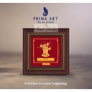 Pure 24 karat Golden Frame  A8 Daffodi Flower - Prima Art by Amol Jewellers LLP