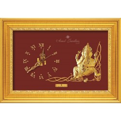 Pure 24 karat Golden Frame 2A7 Ganesha S-1 Prima Art by Amol Jewellers LLP