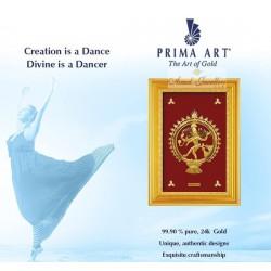 Pure 24 karat Golden Frame 2A7 Natraja - Prima Art by Amol Jewellers LLP