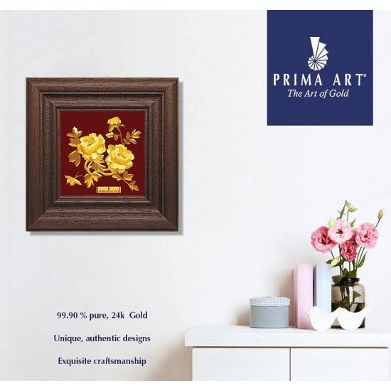 Pure 24 karat Golden Frame A7 Peony Prima Art by Amol Jewellers LLP