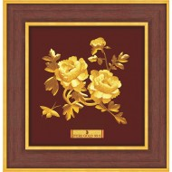 Pure 24 karat Golden Frame A7 Peony Prima Art by Amol Jewellers LLP