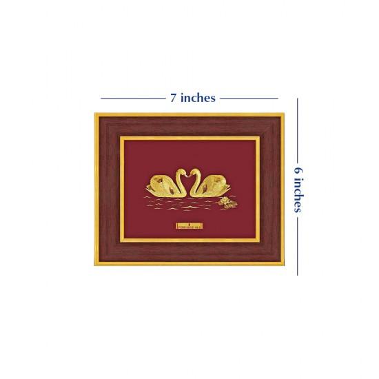 Pure 24 karat Golden Frame A7 Swan Love Prima Art by Amol Jewellers LLP