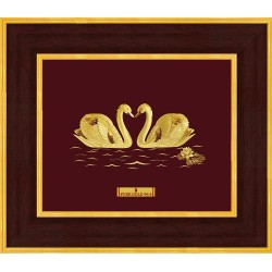 Pure 24 karat Golden Frame A7 Swan Love Prima Art by Amol Jewellers LLP