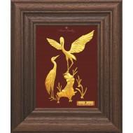 Pure 24 karat Golden Frame A7 The Crane Prima Art by Amol Jewellers LLP