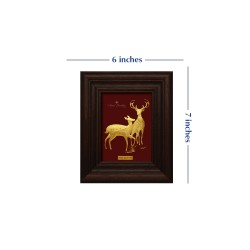 Pure 24 karat Golden Frame A7 The Deer Prima Art by Amol Jewellers LLP
