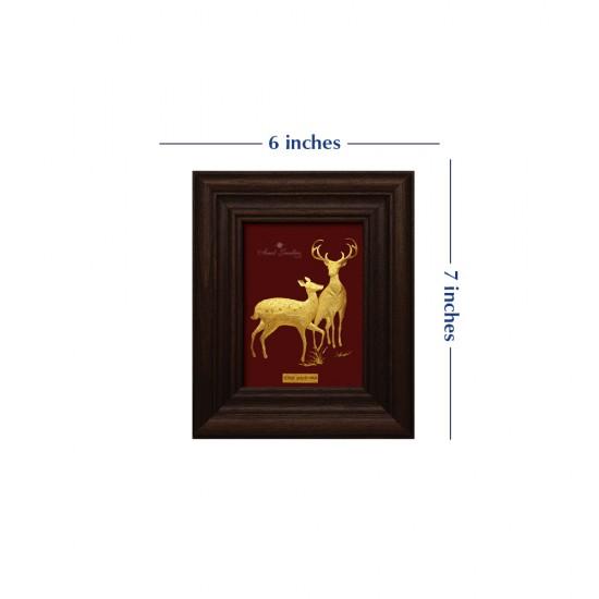 Pure 24 karat Golden Frame A7 The Deer Prima Art by Amol Jewellers LLP
