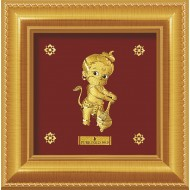 Pure 24 karat Golden Frame A8 Bal Hanuman - Prima Art by Amol Jewellers LLP