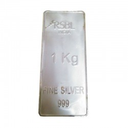 1000 grams / 1 KG RSBL Silver Bar in 999 24kt Purity Fineness