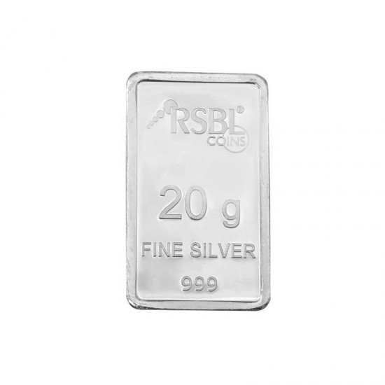 20 grams RSBL Silver Bar in 999 24kt Purity Fineness