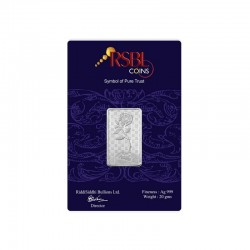 20 grams RSBL Silver Bar in 999 24kt Purity Fineness