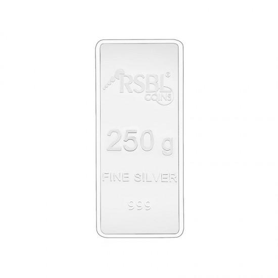 250 grams RSBL Silver Bar in 999 24kt Purity Fineness